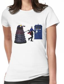 12th Doctor and Dalek Womens Fitted T-Shirt
