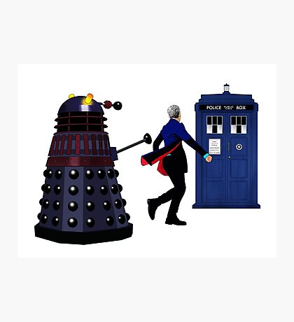 12th Doctor and Dalek Photographic Print