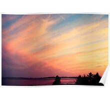 Pink and Purple Sunset Poster