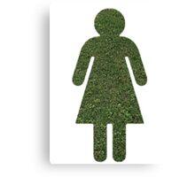 Go Green! Grass Girl Canvas Print
