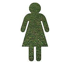 Go Green! Grass Girl Photographic Print