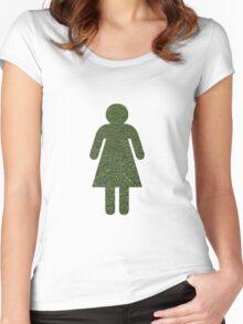 Go Green! Grass Girl Women's Fitted Scoop T-Shirt