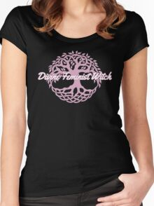 Divine Feminist Witch Women's Fitted Scoop T-Shirt