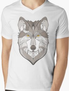 wolf, zentangle Mens V-Neck T-Shirt