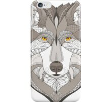 wolf, zentangle iPhone Case/Skin