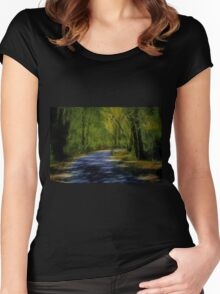 Forest Matrix Women's Fitted Scoop T-Shirt