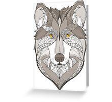 wolf, zentangle Greeting Card