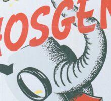 Vintage poster - Phosgene Sticker