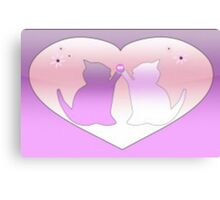 Kittens In Hearts Canvas Print