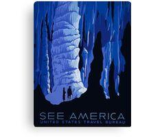 See America United States Travel Bureau Vintage Travel Poster Canvas Print