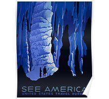 See America United States Travel Bureau Vintage Travel Poster Poster