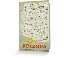 Arizona Vaction State Of The Nation Vintage Travel Poster Greeting Card