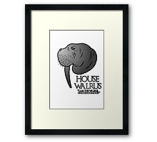House Walrus (Silver Edition) Framed Print