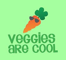Veggies are COOL! with a carrot by jazzydevil