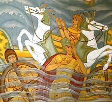 Fresco, Église Saint Nazaire by Trish Meyer