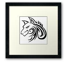 Forme de loup Framed Print