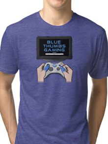Blue Thumbs Gaming: Gamepad Logo Tri-blend T-Shirt