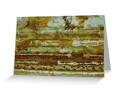 Strata with Distant Trees Greeting Card
