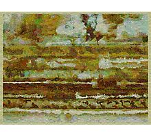 Strata with Distant Trees Photographic Print