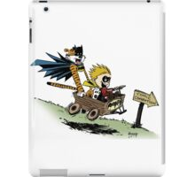 Calvin and Hobbes cosplaying iPad Case/Skin