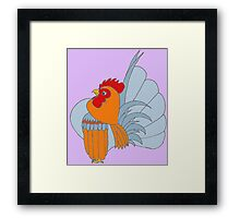 Gold Lavender Partridge Framed Print