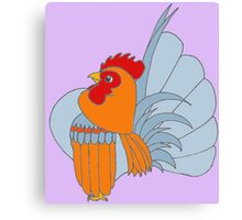 Gold Lavender Partridge Canvas Print
