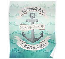 Smooth Sea Anchor Poster