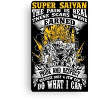 Super Saiyan Goku Shirt - RB00047 Canvas Print