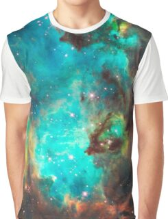 Green Galaxy Graphic T-Shirt