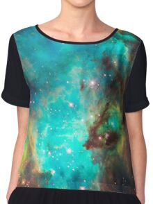 Green Galaxy Chiffon Top