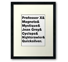 X-Men: Codenames, 1983 Framed Print