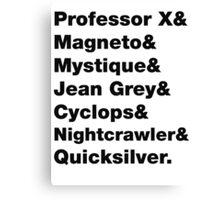 X-Men: Codenames, 1983 Canvas Print