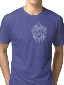 My Chemical Romance Pop Punk Heart and Dagger (White) Tri-blend T-Shirt