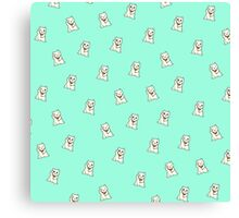 Turquoise Lucky Cat Canvas Print