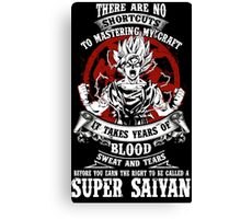 Super Saiyan Goku Shirt - RB00045 Canvas Print
