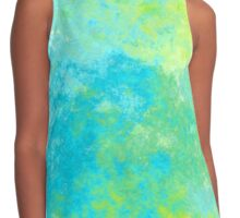 BLUE AND GREEN ABSTRACT 4 Contrast Tank