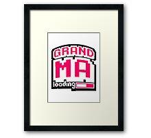 8 Bit Pixel Geek Nerd Loading Grandma Framed Print