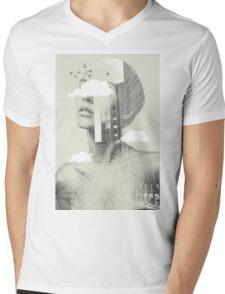 UP TOWN FACET II Mens V-Neck T-Shirt
