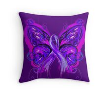 Purplfly Throw Pillow