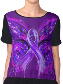 Purplfly Chiffon Top