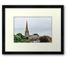 Exeter Cathedral From Canal Framed Print