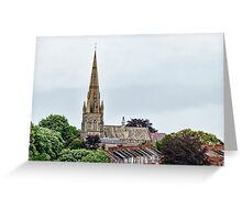 Exeter Cathedral From Canal Greeting Card