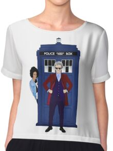 The Doctor and Bill Chiffon Top