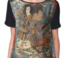 Japanese Print:  Warrior Chiffon Top
