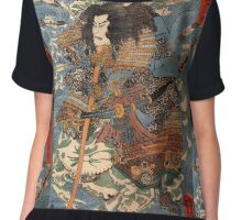 Japanese Print:  Warrior Chiffon Top