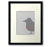 Bird is the Word Framed Print
