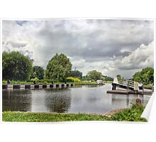 Double Locks Along Exeter Ship Canal  Poster