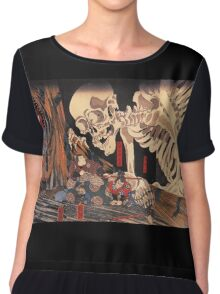 Japanese Print:  Skeleton Monster Chiffon Top