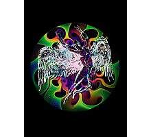 ICARUS THROWS THE HORNS - wavy 60's Photographic Print