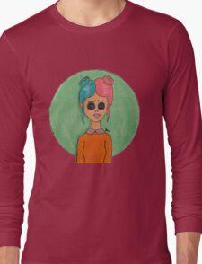 Button Eyed Girl 2 Long Sleeve T-Shirt